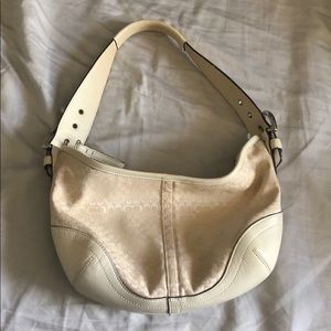 Vintage Cream Coach Bag